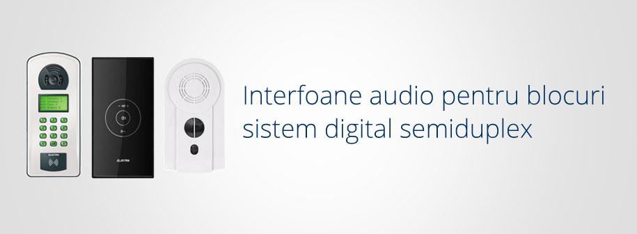 Interfoane audio Electra Instal pentru blocuri sistem digital semiduplex