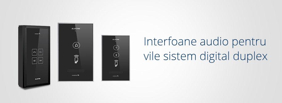 Interfoane audio Electra Instal pentru vile sistem digital duplex
