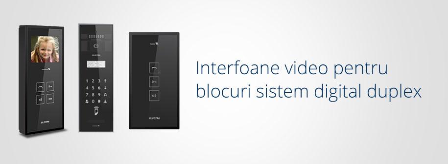 Interfoane video Electra Instal pentru blocuri sistem digital duplex